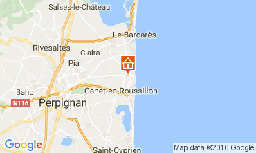 Map Sainte Marie la Mer Villa 90133