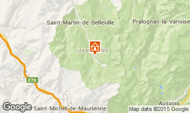 Map Les Menuires Apartment 1610