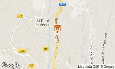 Map Saint Paul de Vence Apartment 88168