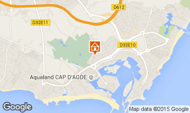 Map Cap d'Agde One-room apartment 63870
