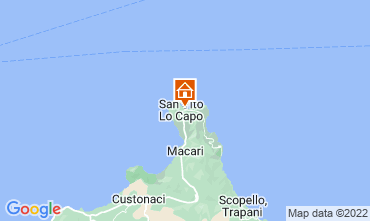 Map San Vito lo Capo Apartment 53467