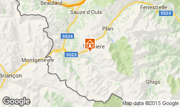 Map Sestriere One-room apartment 59592