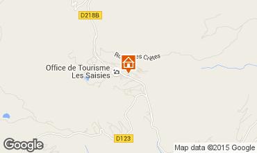 Map Les Saisies Apartment 77004