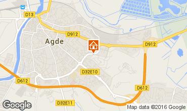 Map Cap d'Agde Apartment 103108