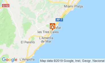 Map La Ametlla de Mar Villa 118540