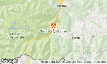 Map Saint Lary Soulan One-room apartment 4436