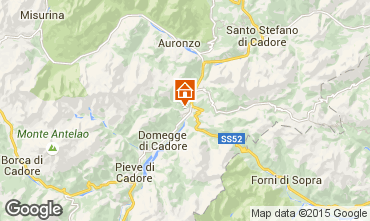 Map Auronzo di Cadore Apartment 59917