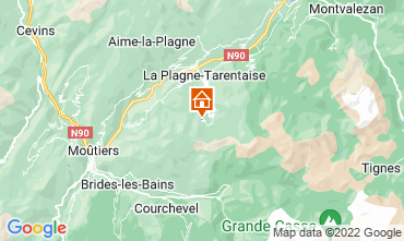 Map La Plagne Apartment 79745