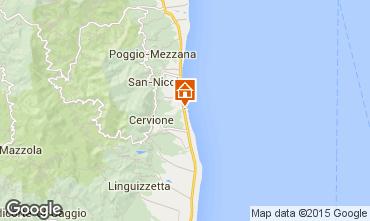 Map Moriani Plage Villa 89944