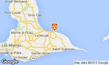 Map Le Moule Vacation rental 100653