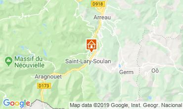 Map Saint Lary Soulan Apartment 119407