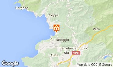 Map Calcatoggio Villa 7816