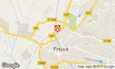 Map Fréjus Apartment 85654