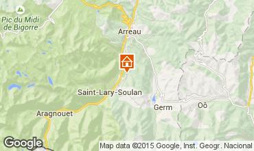 Map Saint Lary Soulan Vacation rental 61378