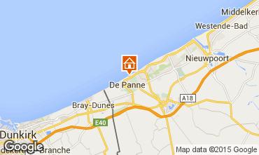 Map De Panne Apartment 96357