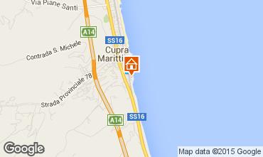 Map Cupra Marittima Apartment 89360