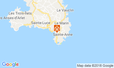 Map Sainte Anne (Martinique) Bungalow 8125