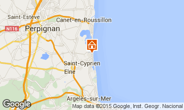 Map Saint Cyprien Plage One-room apartment 55227