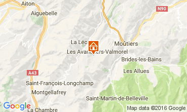 Map Valmorel Chalet 106383