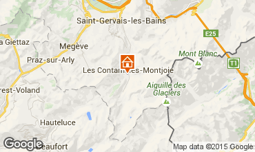 Map Les Contamines Montjoie Apartment 950