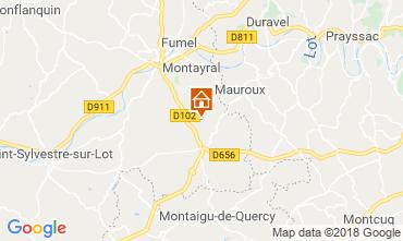 Map Tournon d'Agenais Vacation rental 117004