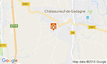 Map Châteauneuf-de-Gadagne Vacation rental 106637