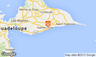 Map Sainte Anne (Guadeloupe) Vacation rental 71841