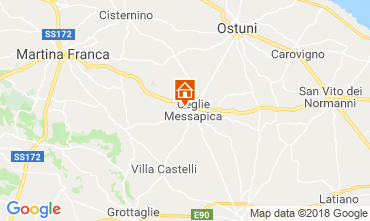 Map Ceglie Messapica Villa 117490