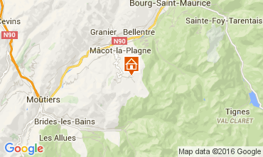 Map La Plagne One-room apartment 48754