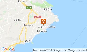 Map Moraira Bungalow 71907