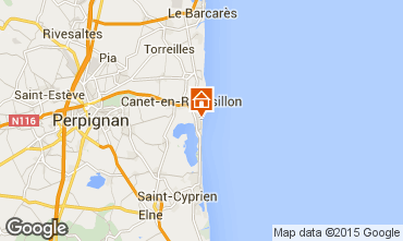 Map Canet-en-Roussillon Apartment 68584