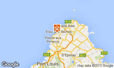 Map Trou-aux-biches One-room apartment 28606