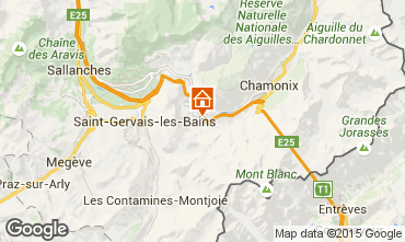 Map Les Houches One-room apartment 62468