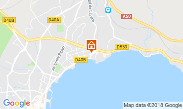 Map La Ciotat Apartment 5933