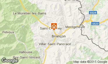 Map Briançon Apartment 80698
