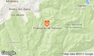 Map Pralognan la Vanoise Apartment 89173