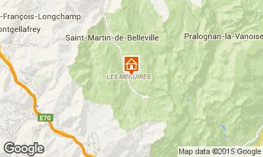 Map Les Menuires Apartment 1753