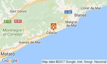 Map Calella de Mar Apartment 111108