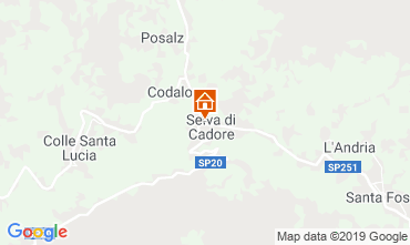 Map Selva di Cadore Apartment 39453