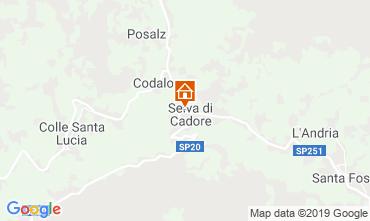 Map Selva di Cadore Apartment 39453