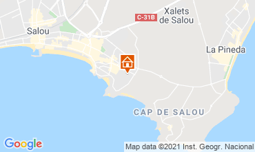 Map Salou Apartment 93569