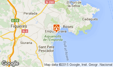 Map Empuriabrava One-room apartment 61261