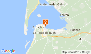 Map Arcachon Apartment 92451