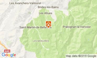 Map Méribel Apartment 113091