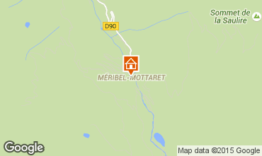 Map Méribel Apartment 66474