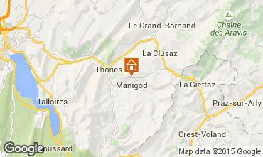 Map La Clusaz Chalet 81466