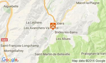 Map Saint Martin de Belleville Chalet 2645