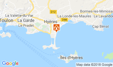 Map Hyères One-room apartment 116723