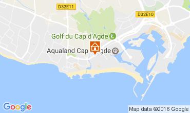 Map Cap d'Agde Apartment 107494