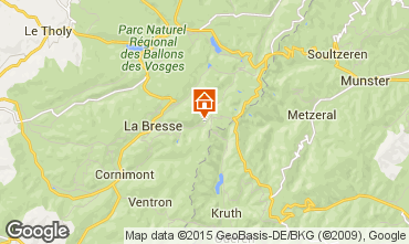 Map La Bresse Apartment 99262